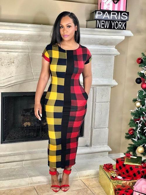 Lumber Gal Dress Yellow Edition