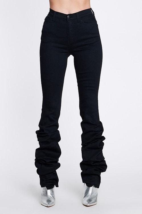 Black Scrunch Jeans