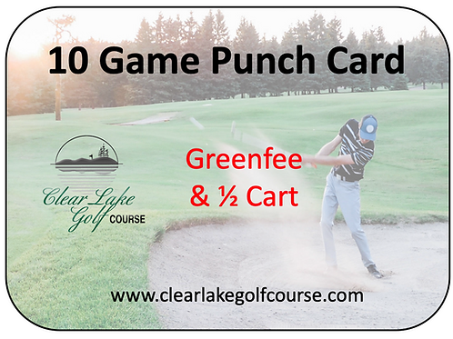 10 Game Punch Card & 1/2 Cart