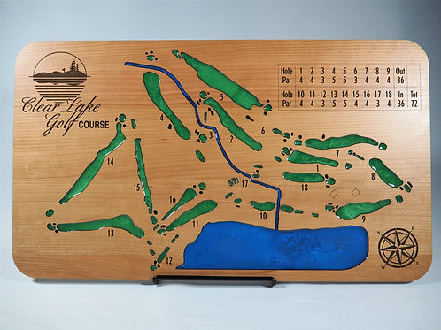 Cherry Wooden Golf Course Map