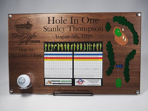 """Hole in One Plaque 11""""x18"""""""