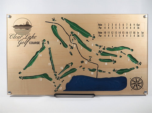 Maple Wooden Golf Course Map