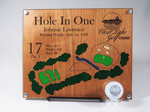 """Hole in One Plaque 9.5""""x11"""""""