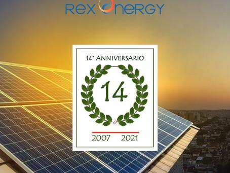 REXENERGY 14 anni di energia pulita
