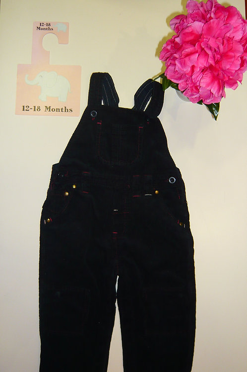 All Black Dungaree