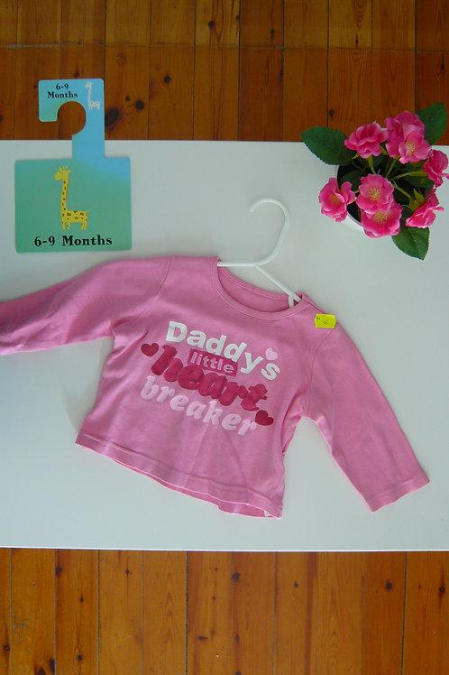 Daddy's Heart Breaker Long Sleeve Blouse