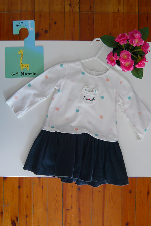 The Sweet Cat Set Skirt and Long Sleeve Blouse