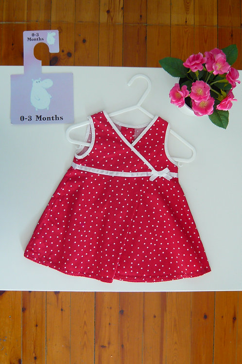 Dots and Red  Summer Dress