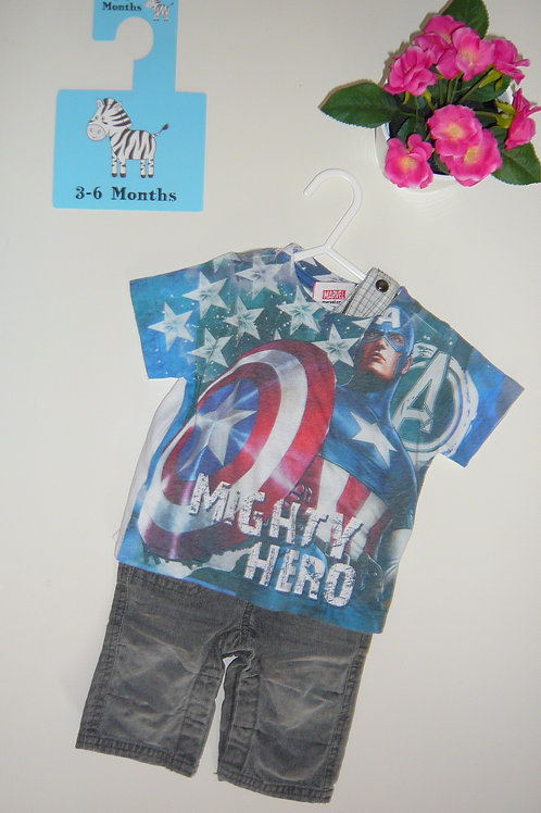Mighty Hero Marvel Set Trousers and Top