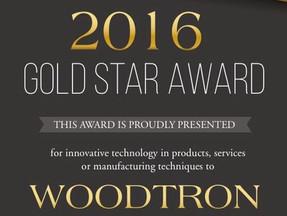 Woodtron wins Gold Star Award