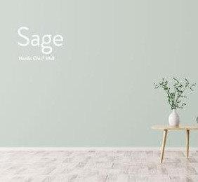 Sage, leirebasert veggmaling
