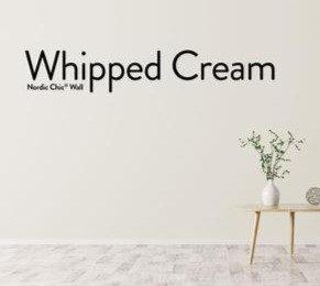Whipped Cream, leirebasert veggmaling