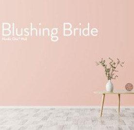 Blushing Bride, leirebasert veggmaling