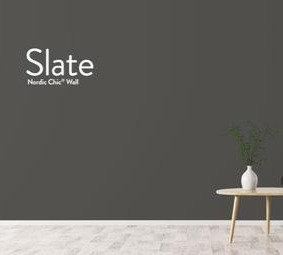 Slate, leirebasert veggmaling