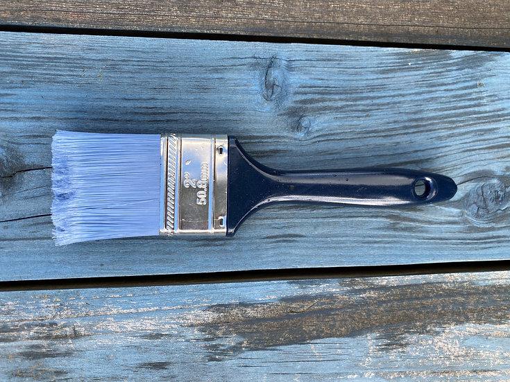 Blå malekost med 5,8 cm syntetbust