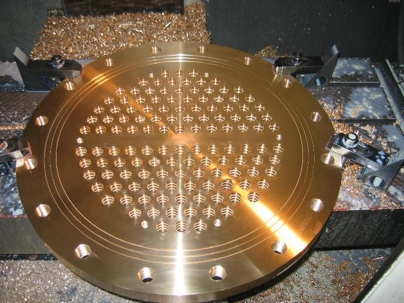Bronze milling plate