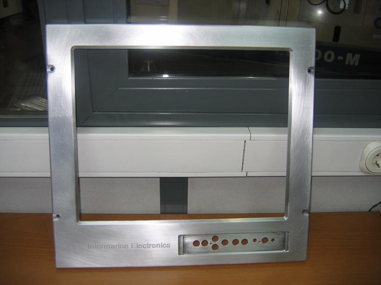 Aluminum Front panel milling