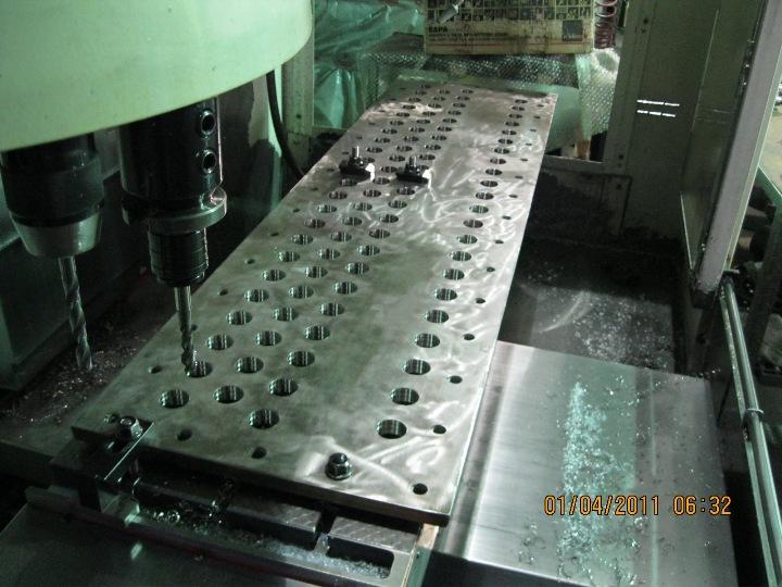 Inox plate drilling