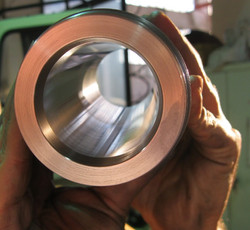 Steel hole polishing