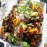 Organic black rice sesame tofu stirfry #