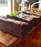 homemade gluten free brownie