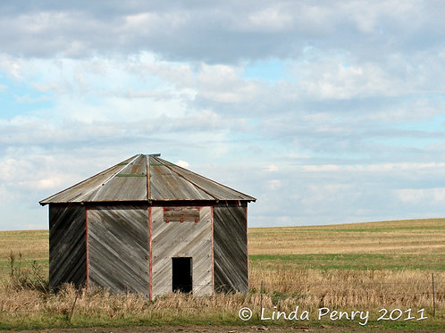 Wooden Grain Bin Notecard
