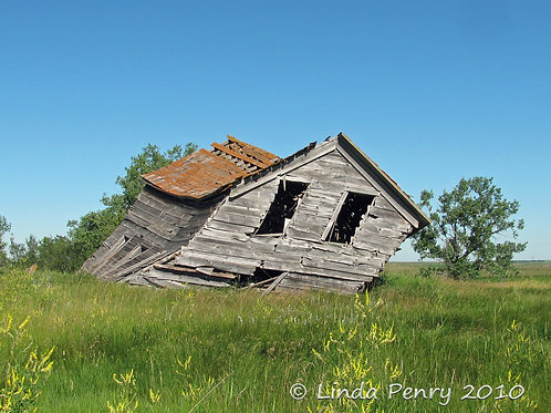 Leaning House Notecard