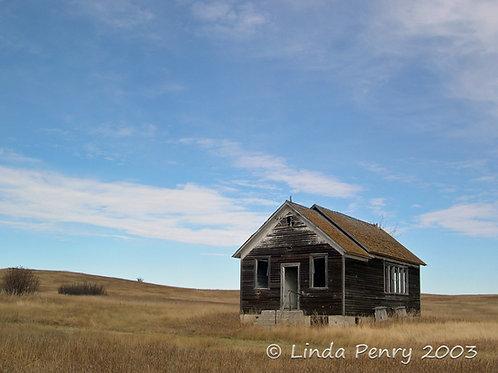 Prairie Schoolhouse Notecard