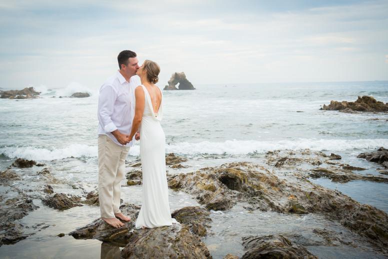 Beach Wedding at Corona del Mar Wedding by Jen Marie Photography in Southern California