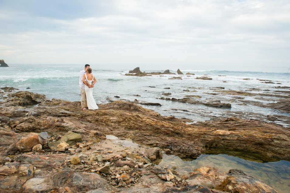 Stunning Beach to Photograph this Newly Married Couple in Corona del Mar Wedding by Jen Marie Photography in San Clemente, California