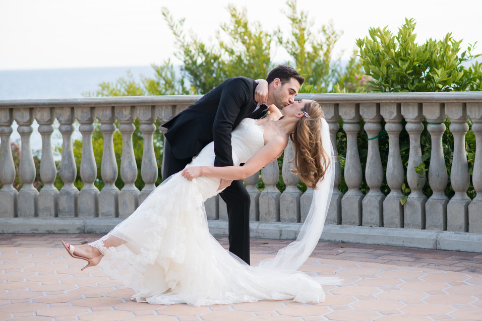 Dancing with His Bride at the Bel Air Bay Upper Bay Club. Wedding photography by Jen Marie Photography in Southern California