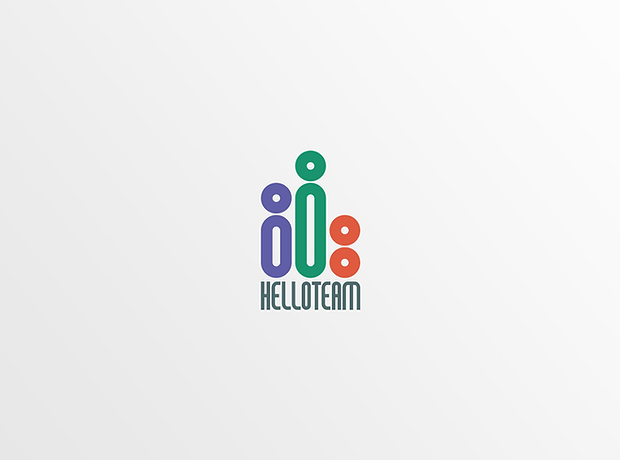 Hello Team logo - minhdesigns - graphic design by Minh
