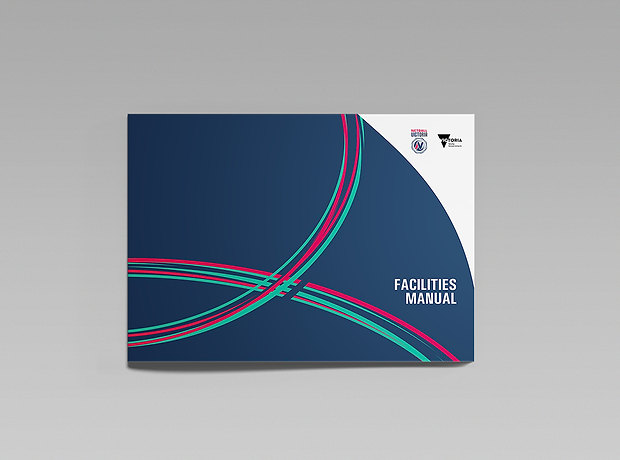 Netball Victoria facilities manual cover - minhdesigns - graphic design by Minh