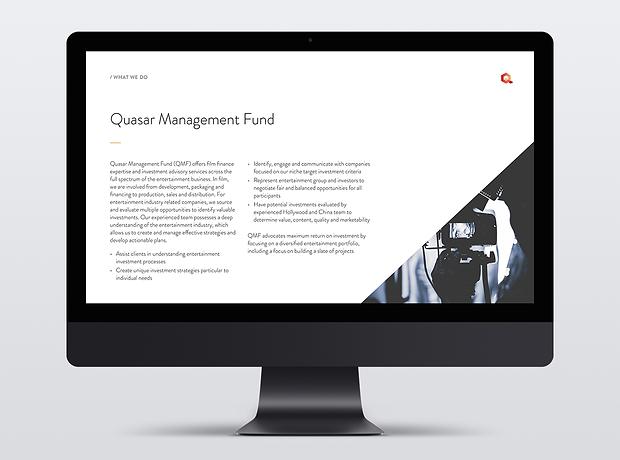 Quasar Management pitch deck presentation - minhdesigns - graphic design by Minh