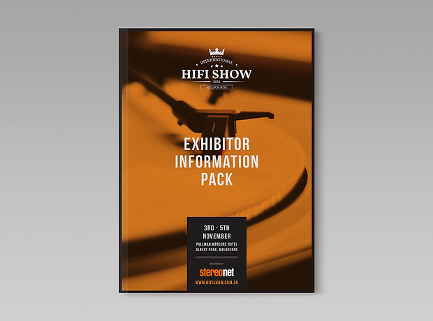 Stereonet Melbourne hifi show exhibitor information pack - minhdesigns - graphic design by Minh