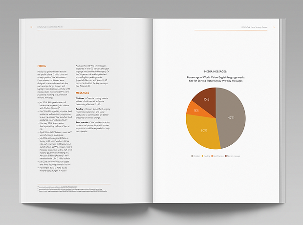 World Vision report internal spread - minhdesigns - graphic design by Minh