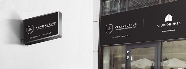 Clarke Group - Auckland New Zealand - minhdesigns - graphic design by Minh - Signage design