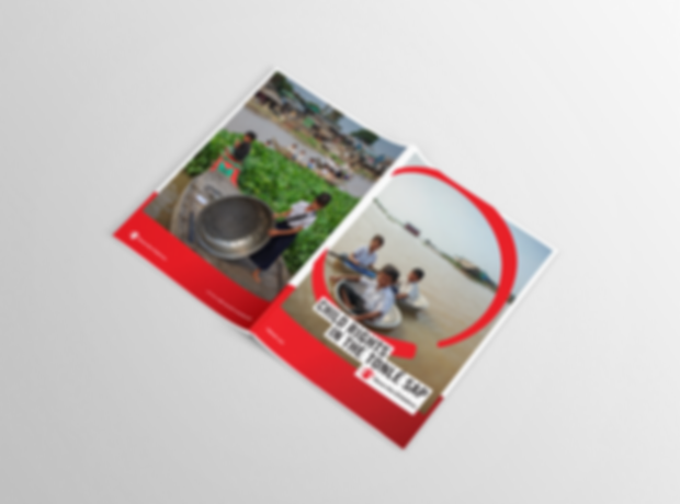 Save the Children - Child rights in the Tonle Sap - minhdesigns - graphic design by Minh - Full document page layout design