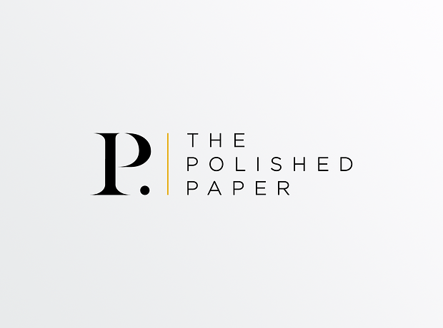 The Polished Paper logo - minhdesigns - graphic design by Minh