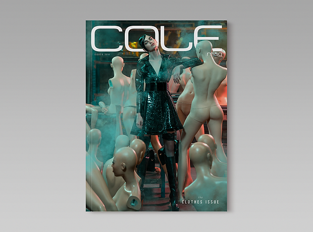 Cole Magazine - minhdesigns - graphic design by Minh - Issue 8 - the Clothes Issue - front cover