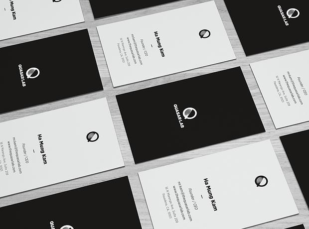 Quasar Lab business card - minhdesigns - graphic design by Minh