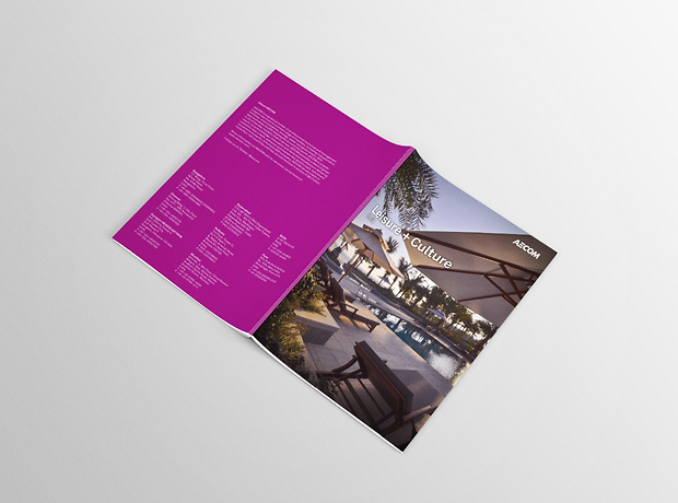 Leisure and Culture brochure - minhdesigns - graphic design by Minh