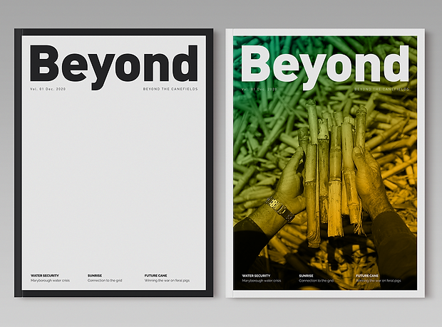 Beyond Magazine cover layout - minhdesigns - graphic design by Minh