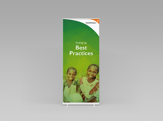 World Vision rollup banner - minhdesigns - graphic design by Minh