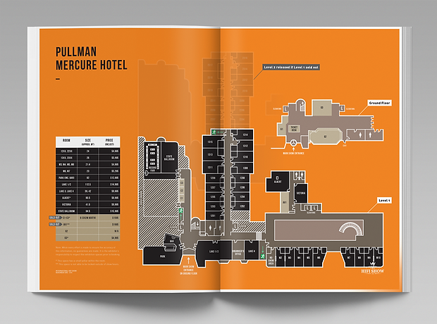 Stereonet Melbourne hifi show exhibitor information pack - map - minhdesigns - graphic design by Minh