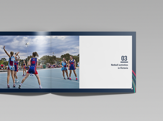 Netball Victoria facilities manual internal pages - minhdesigns - graphic design by Minh