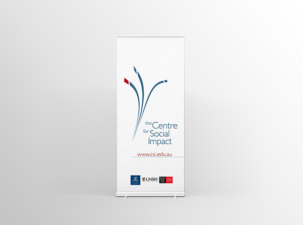 Centre for Social Impact rollup banner - minhdesigns - graphic design by Minh