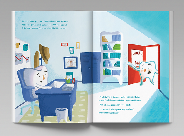 Detektiv Denti childrens book - minhdesigns - graphic design by Minh