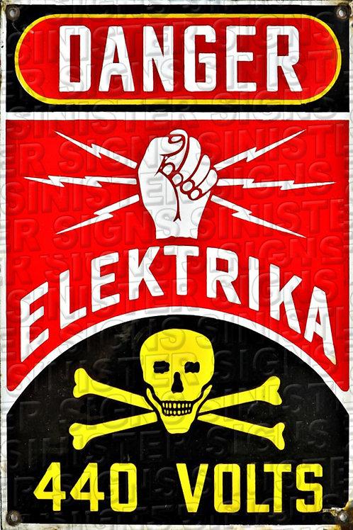 """ELEKTRIKA 440 VOLTS 12""""X18"""""""