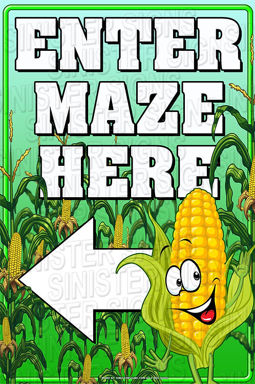 "Enter maze here 12""x18"""